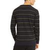 Kenneth Cole Reaction Men's Striped Sweater (Dark Lagoon, X-Large)