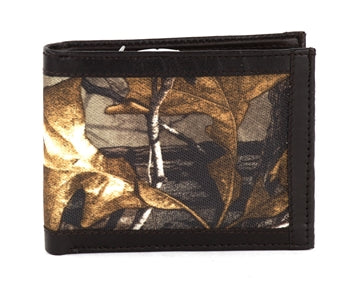 RealTree Mens Bifold Wallet With Center Flap