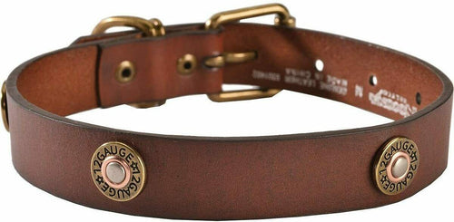 Nocona Pet Shotgun Shell Concho Leather Collar