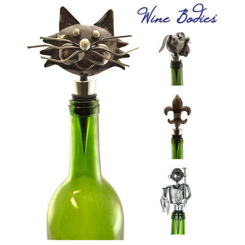 "Wine Bodies 6"" Recycled Metal Wine Stopper"