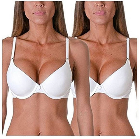 Maidenform Womens One Fab Fit Convertible T-Shirt Bra (2 Pack)