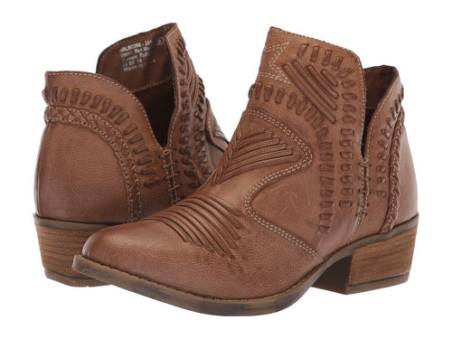 Not Rated Womens Nosara Woven Ankle Booties