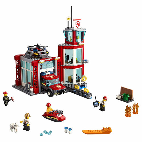 LEGO City Fire Station Building Kit (60215, 509 Pieces)