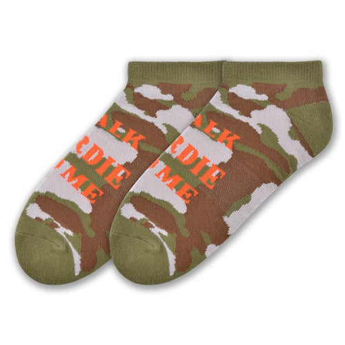 K. Bell Sport Mens Talk Birdie To Me Low Cut Socks (Camo, One Size)