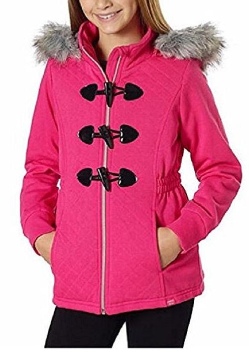 Limited Too Girls' Knit Fleece Peacoat Jacket