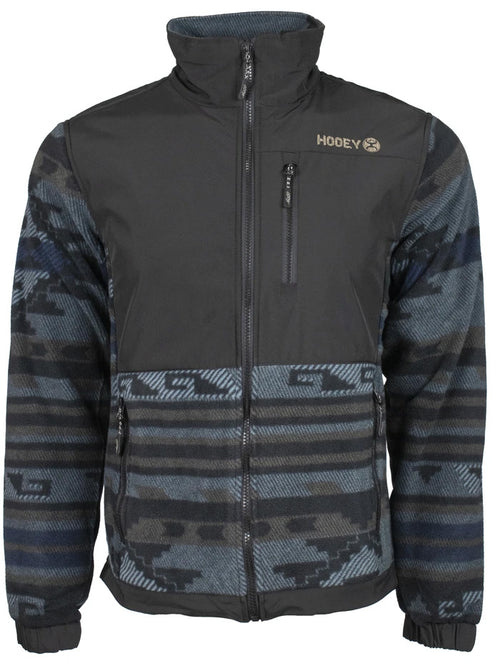 Hooey Mens Fleece Lightweight Zip Front Aztec Print Tech Jacket