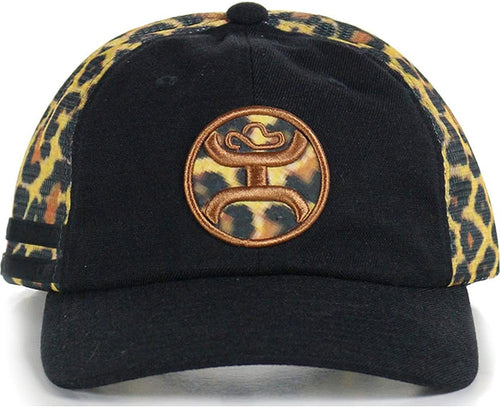 Hooey Womens Signature Logo Trucker Baseball Cap ( Black / Leopard, One Size)