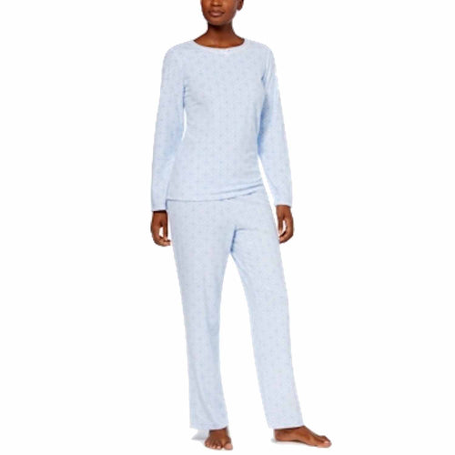 Charter Club Womens 2-Piece Thermal Fleece Long Sleeve Pajama Set
