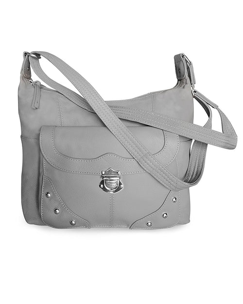 Roma Leathers Womens Studded Leather Concealed Carry Gun Purse
