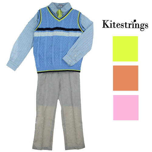 Kitestrings by Hartstrings Boys 4 Piece Dress Set