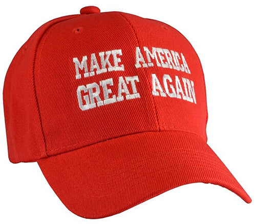 Capsmith Make America Great Again Embroidered Snap Back Ball Cap, Red