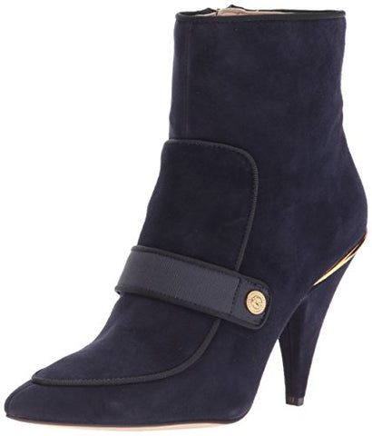 Nine West Womens Westham Panel Ankle Bootie (Navy/Black, 5.5M)