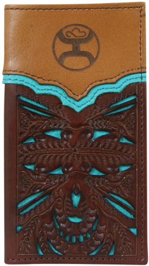 Hooey Youth Boys Floral Cut-Out Leather Junior Rodeo Wallet