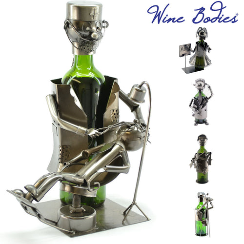 Wine Bodies Professional Career Themed Recycled Metal Wine Bottle Holders