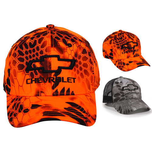 Outdoor Cap Mens Chevrolet Kryptek Blaze Camo Mesh Back Adjustable Snap Back Hat