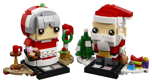 LEGO BrickHeadz Mr. & Mrs. Claus Building Kit (40274,341 Pcs)