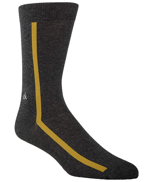 Calvin Klein Mens Luxurious Cotton Single Stripe Socks