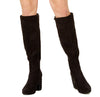 Bar III Grand Studded Heel To-The-Knee Boots (Black,9)