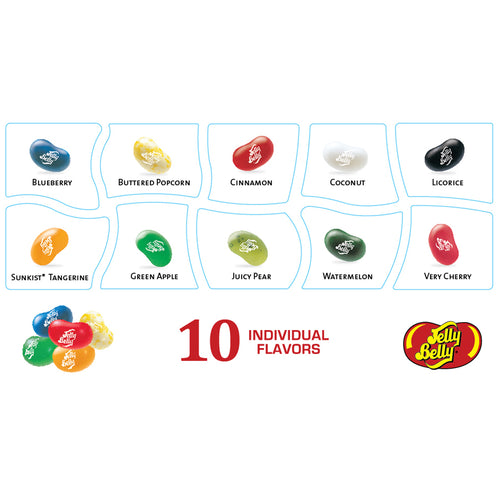 Jelly Belly 10 Flavor Jelly Bean Patriotic 4.25 oz Gift Box