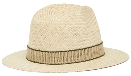 Scala Palm Fiber Safari Fedora Hat (Natural, Large)