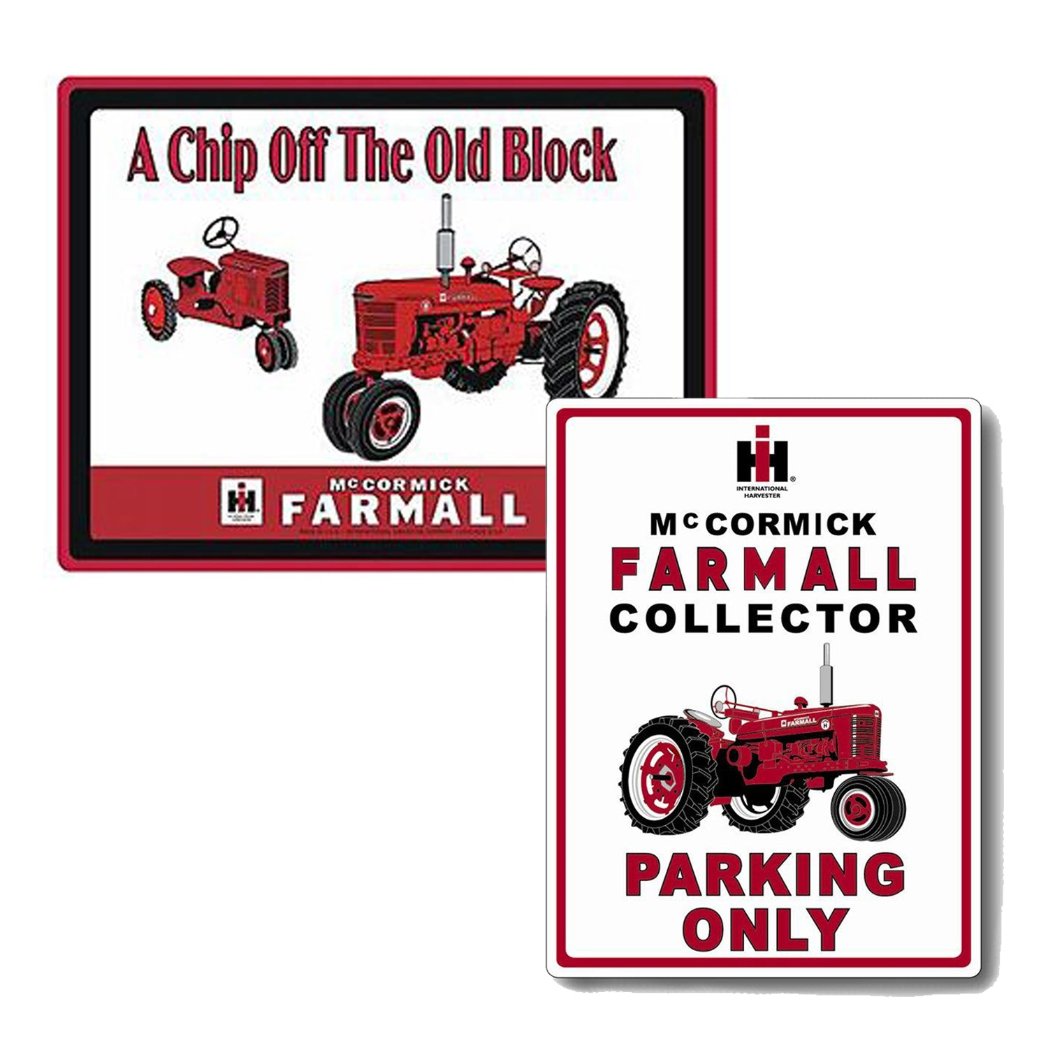 Mens Leather Bi-Fold Wallet with IH FARMALL TRACTOR Image *Great Gift*