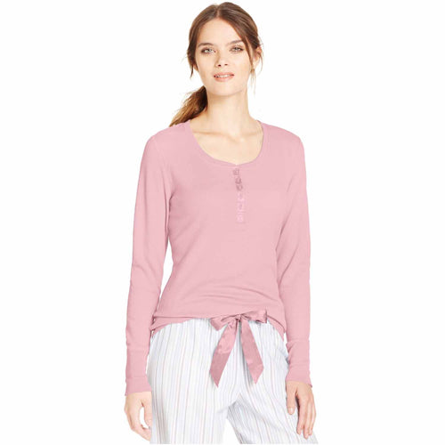 Alfani Women's Long-Sleeve Thermal Top (Pink Quartz, Small)