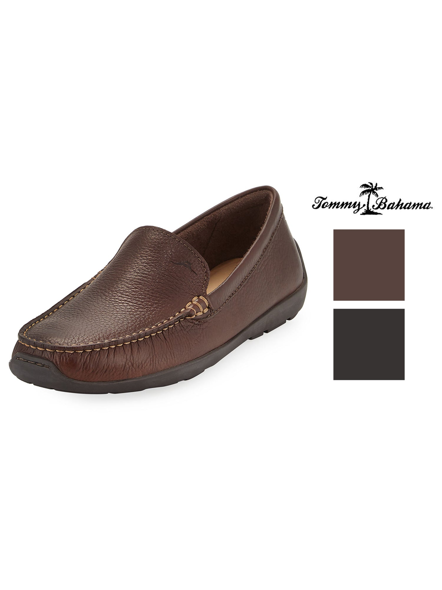 Tommy Bahama Amalfi TB7S00145 Mens Brown Leather Moccasin Loafers Shoes 15