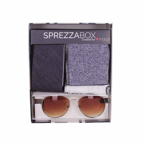 Sprezzabox Mens Blue Freestyle 5 Piece Assorted Accessory Boxed Set