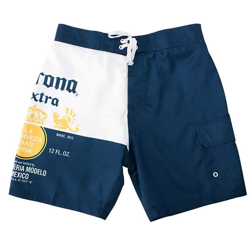 e2afae852c403 Corona Extra Beer Bottle Label Mens Swim Board Shorts