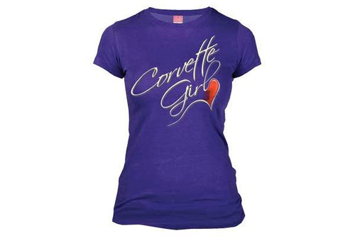 Joe Blow Womens Corvette Girl Ladies Fashion Jersey Tee Shirt(Purple, Small)