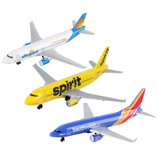 Daron Allegiant, Spirit, and Southwest Airlines Die-Cast Collectible Planes 3PK