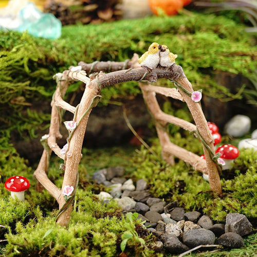 Top Collection Miniature Fairy Garden Structural Figurines-Bridges, Signs, Wells