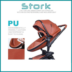 Wonder Buggy Stork 2-in-1 Deluxe Urban Carrycot Stroller with Revolving Seat (Pink)-Stroller-Supreme Stroller