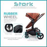 Wonder Buggy Stork 2-in-1 Deluxe Urban Carrycot Stroller with Revolving Seat (White)-Stroller-Supreme Stroller