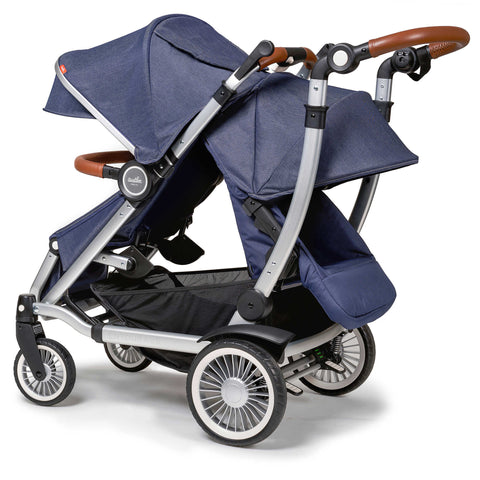Austlen Entourage Double Stroller With Second Seat (Navy)-Stroller-Supreme Stroller