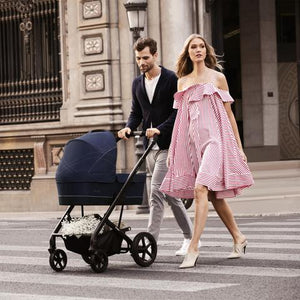 Cybex Balios S/Aton M with SensorSafe™ Travel System (Lavastone Black Denim)-Travel System-Supreme Stroller