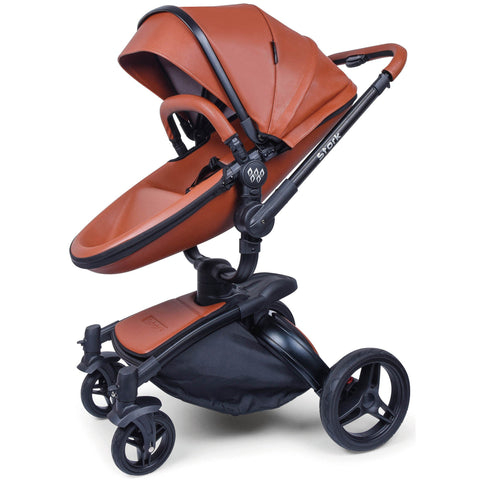 Wonder Buggy Stork 2-in-1 Deluxe Urban Carrycot Stroller with Revolving Seat (Brown)-Stroller-Supreme Stroller