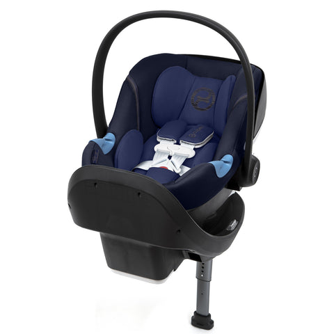 Cybex Aton M Infant Car Seat and SafeLock™ Base (Denim Blue)-Infant Car Seat-Supreme Stroller