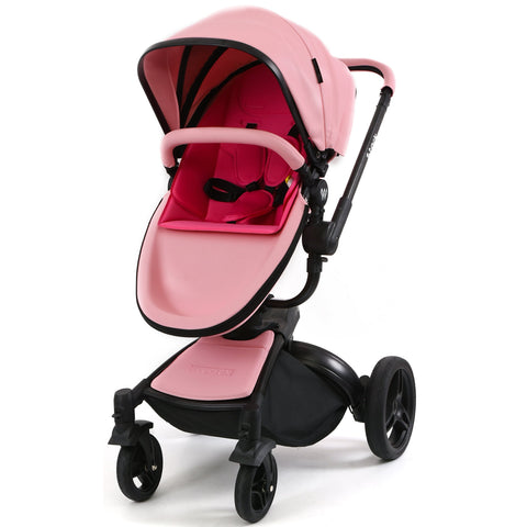 Wonder Buggy Stork 2-in-1 Deluxe Urban Carrycot Stroller with Revolving Seat (Pink)-Wonder Buggy-Supreme Stroller