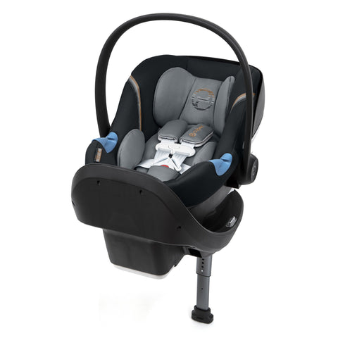 Cybex Aton M Infant Car Seat and SafeLock™ Base (Pepperblack)-Infant Car Seat-Supreme Stroller