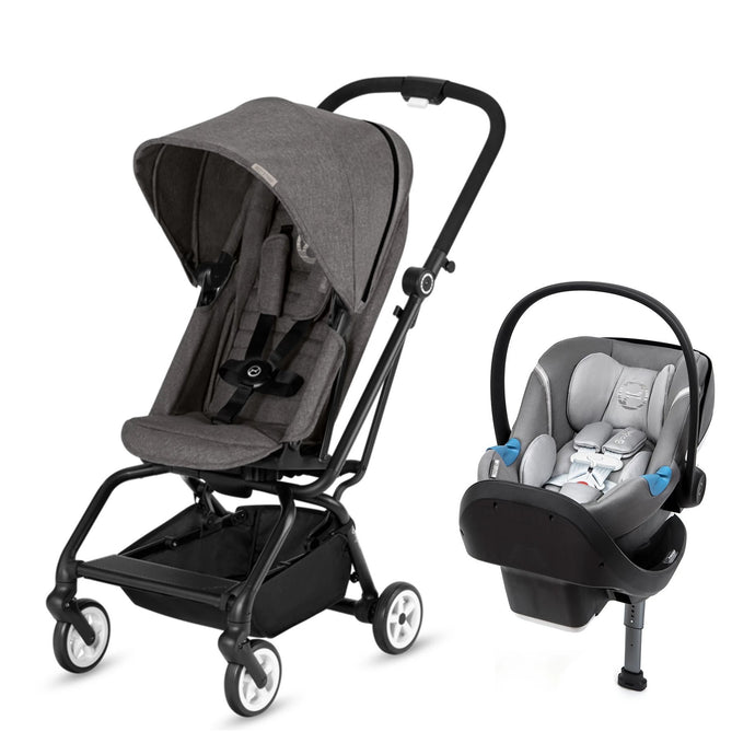 Cybex Eezy S Twist/Aton M with Safelock™ Base Travel System (Manhattan Grey)-Travel System-Supreme Stroller