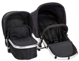 Babyroues Letour Avant Bassinet and Stroller in Pink on a Silver Frame-Stroller-Supreme Stroller