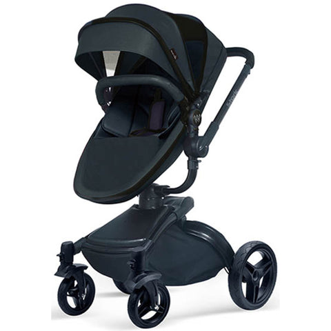 Wonder Buggy Stork 2-in-1 Deluxe Urban Carrycot Stroller with Revolving Seat (Black)-Wonder Buggy-Supreme Stroller