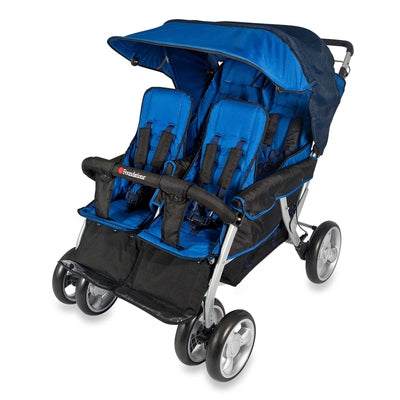 The LX4™ 4-Passenger / Dual Canopy Folding Stroller (Regatta)-Foundations-Supreme Stroller