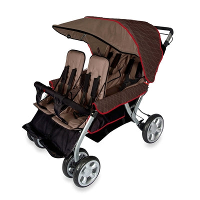 The LX4™ 4-Passenger / Dual Canopy Folding Stroller-Foundations-Supreme Stroller