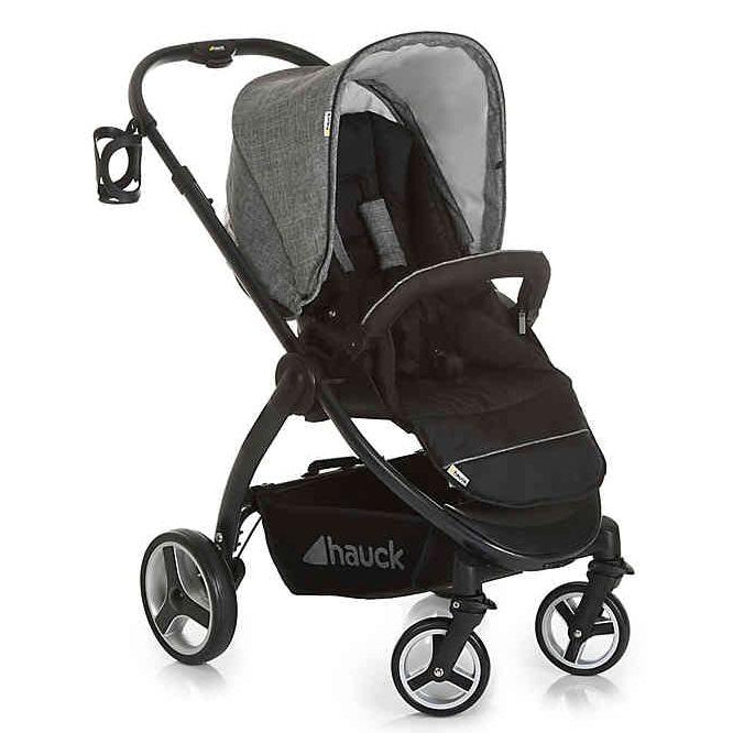 Hauck Polo Travel System Pryia Stroller and ProSafe 35 Carseat (Melange Grey)-Travel System-Supreme Stroller