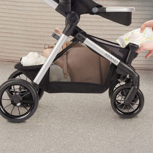 Evenflo Pivot Xpand Tandem Stroller with SafeMax (Stallion Black)-Travel System-Supreme Stroller