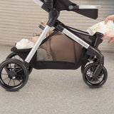 Evenflo Pivot Xpand Tandem Stroller with SafeMax (Percheron Grey)-Travel System-Supreme Stroller
