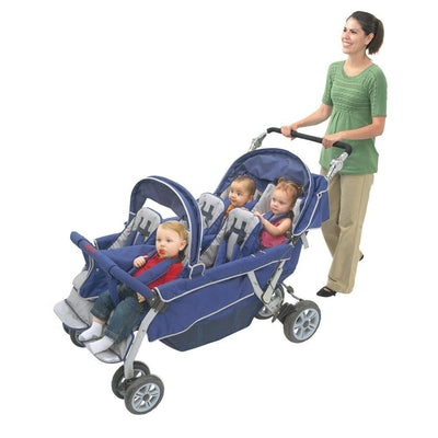 Angeles 6-Passenger SureStop® Folding Commercial Bye-Bye® Stroller-Angeles-Supreme Stroller