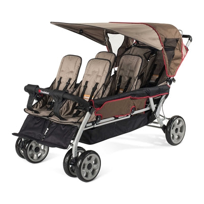 The LX6™ 6-Passenger Stroller (Earthscape)-Foundations-Supreme Stroller